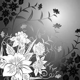 Flower trend line drawing