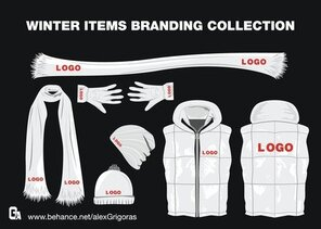 Winter Items Branding Collection