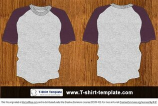 Youth Raglan Vector T-shirt Template