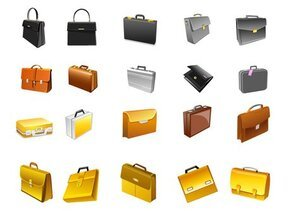 Office supplies of the briefcase