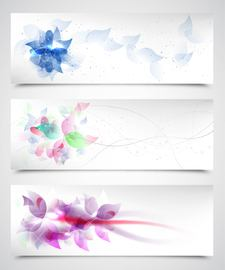 Fluorescent Artistic Floral Backgrounds