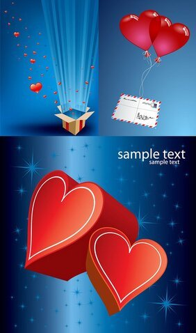 Vector romantic gift of love