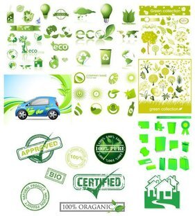 Variety of environmental icon