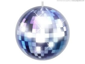 Disco ball icon (PSD)