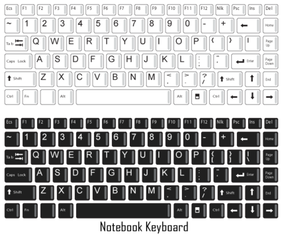 Notebook Keyboard Vector Free