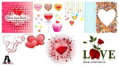 2009 Valentine's Day Vector material package