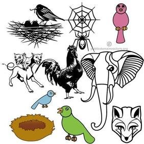 ANIMALI pubblico dominio VECTOR PACK.eps