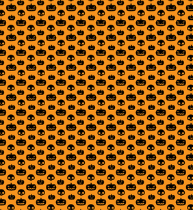 Awesome Pumpkin And Skull Free Seamless pattern