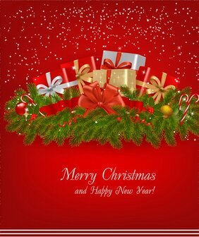 Christmas card background vector-1