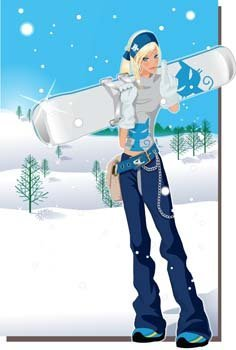 Snow boarding vector 6