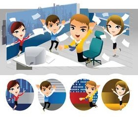 People and computer vector 1