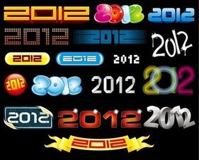 2012 New Year Vector collectie