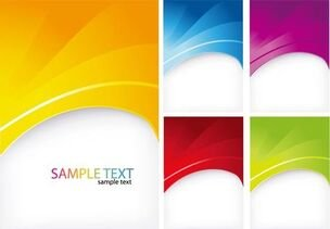 Abstract Colorful Background Vector-Set