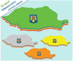 Romania 3d Map Vector Free
