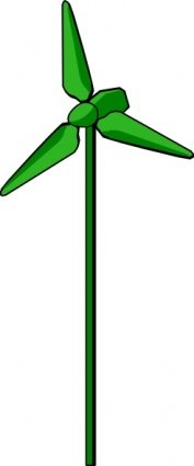 Energy Positive Wind Turbine Green