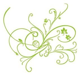 Groene Vector Floral Ornament
