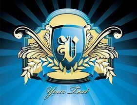 Blue Shield real Vector Illustrator Cs3