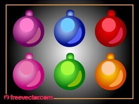 Christmas Ornamental Bright Ball Pack