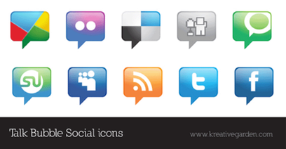 Talk Bubble Vector Social Icons