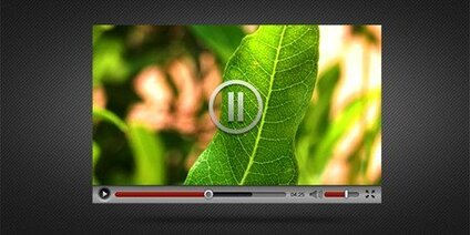 Video player-interface PSD