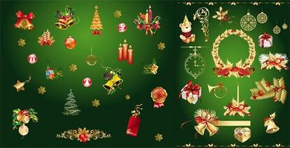 Golden Christmas decoration element
