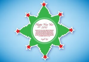 Happy New Year 2013 Green Sticker Free
