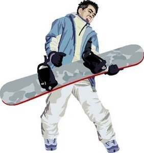 Snow boarding vector 3