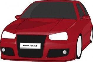 Volkswagen Golf Tuned Clip Art