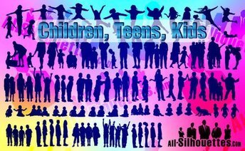 85 Vector Children, Kids, Teens