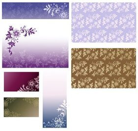 South Korea Background pattern vector material series