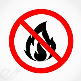 No fire vector sign illustration