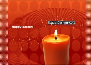 Easter background with candle and stars