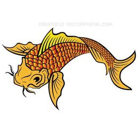 KOI FISH gratis VECTOR.eps