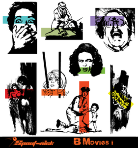 B Movies Vector Set-1