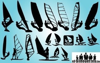 Windsurfen Pack silhouet