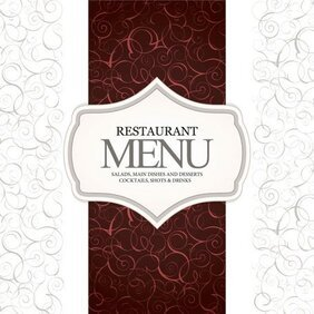 Continental menu template 07