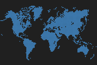 Dots World Map Vector Art