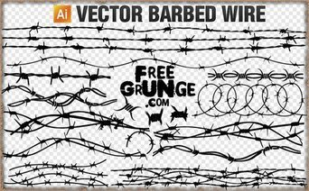 18 Vektor barbed wire