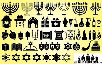 Symbol Pack för Happy Hanukkah