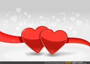 Two Hearts Background