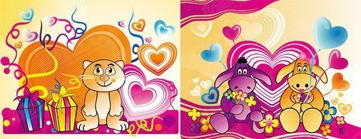 Theme of love cartoon