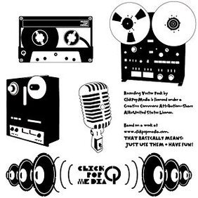 Material retro music playback device