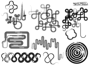 Line Art Vector Design Elements Set-1