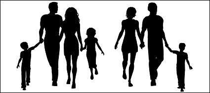 A four character silhouettes