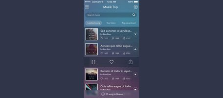 Modern Mobile Music App Interface