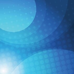 Abstract Blue Vector Background with Circles (Free)