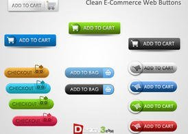 E-Commerce Web knoppen schoon