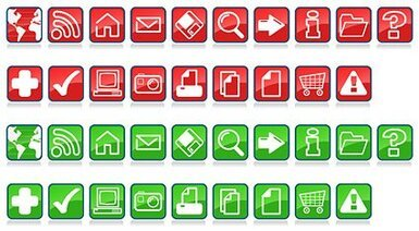 Material commonly used in vector icons series