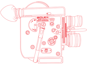 Bolex H16 Reflex Camera Vector Outline
