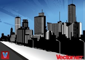 Vecteur ville Skyline Art